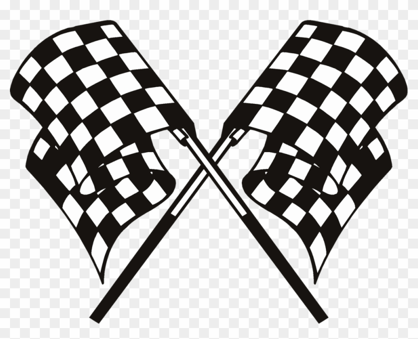 Clipart Checkered - Checkered - Race Flags Transparent Background #103463