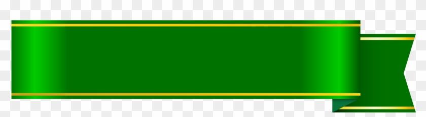 Banner - Green Ribbon Png #103484