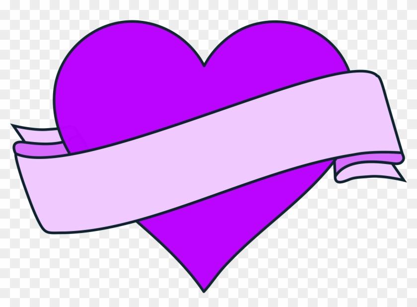 Heart With Ribbon Banner - Heart With Ribbon Banner #103528