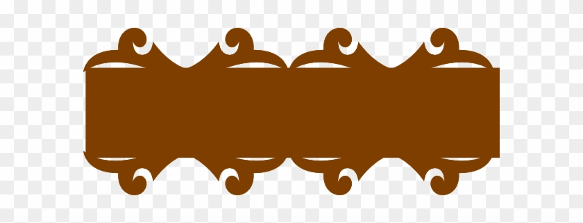 Brown Banner Png Pic - Brown Ribbon Banner Png #103557