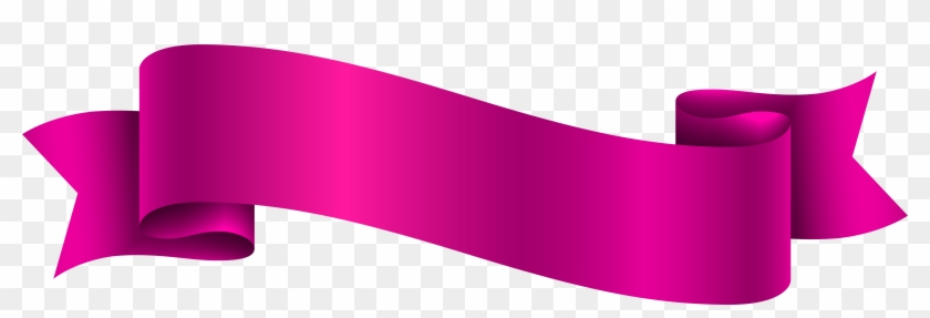 Pink Banner Transparent Png Clip Art Image Pink Banner Ribbon