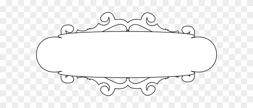 White And Black Banner Clip Art At Clker - Png Scroll Blue #103594