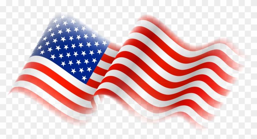Us Flag American Flag Free Clip Art Clipart - Transparent American Flag Png #103608