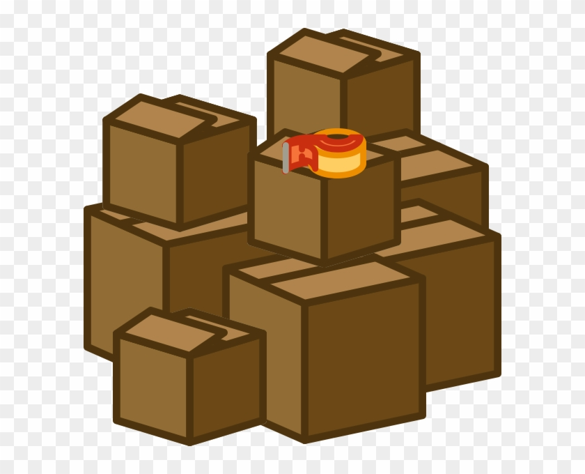 Moving Boxes Clipart - Pile Of Boxes Png #103647