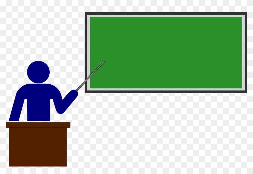 Big Image - Teacher Pointing To Board #103680