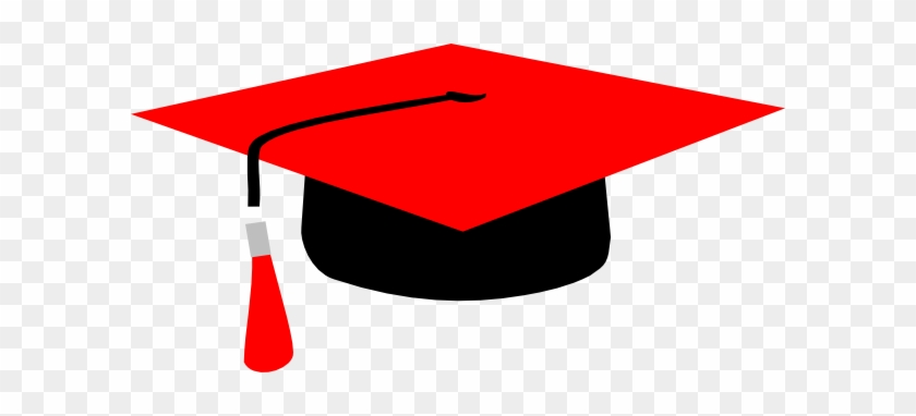 Red Mortarboard Clip Art At Clkercom Vector - Clip Art #103710