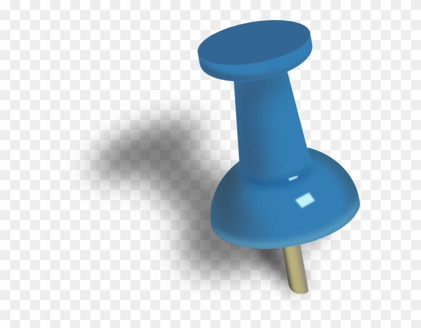 Pushed Pin Clip Art At - Push Pin Clipart #103726