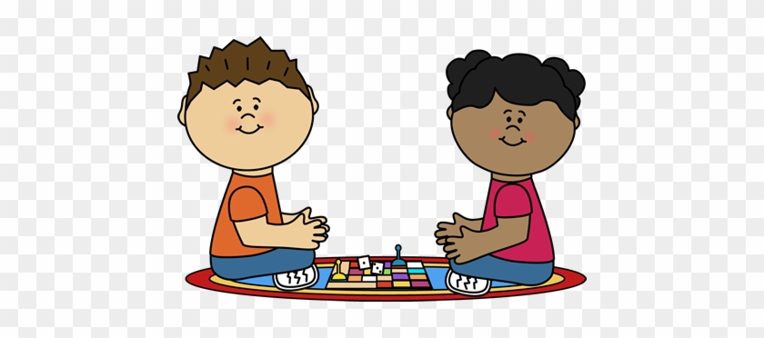 Playing Board Game Clip Art - Play Board Games Clipart #103736
