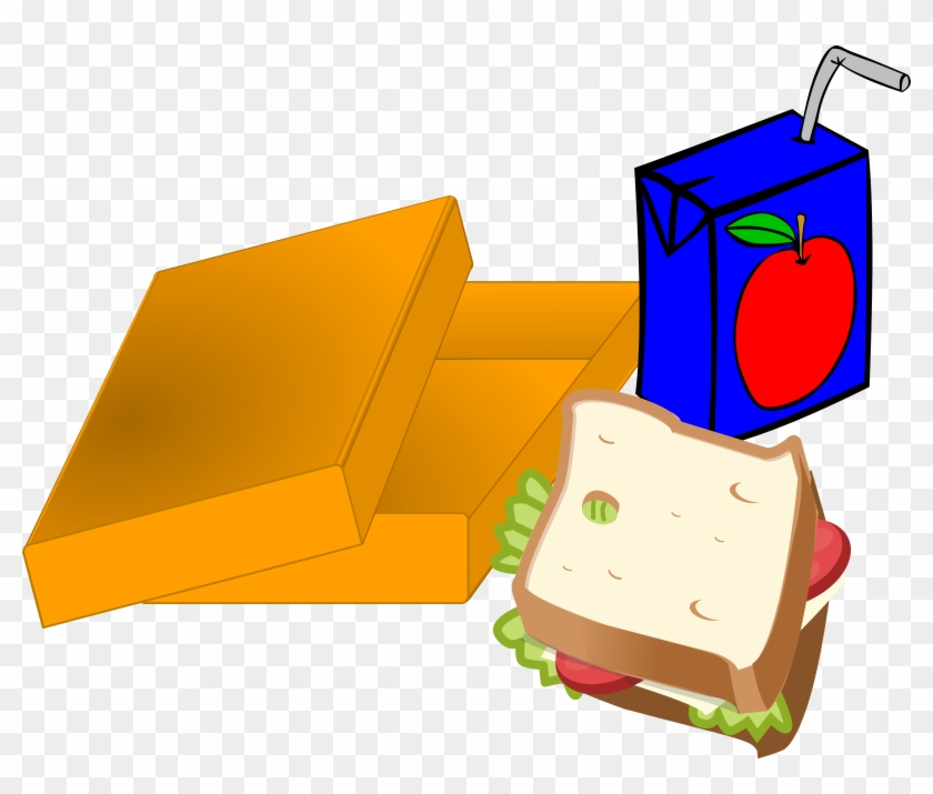 Clipart Lunch Box - Lunchpaket Clipart #103774