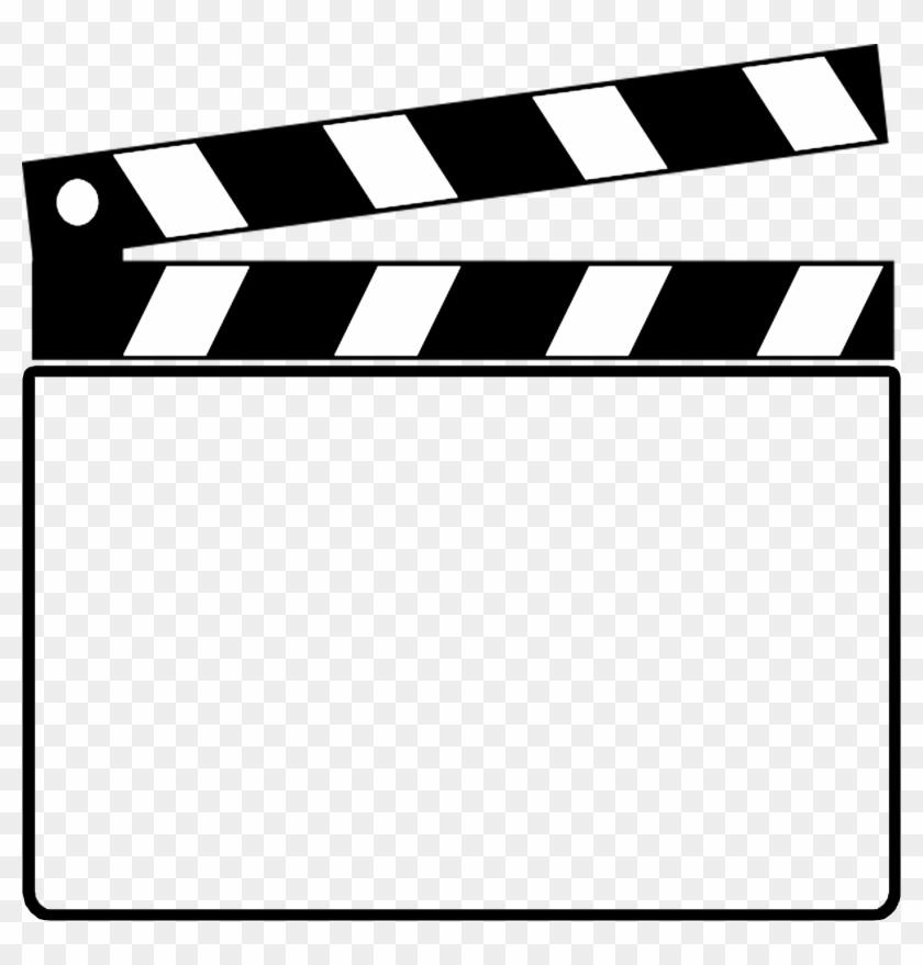 Clapper Board Clip Art Clipart - Clapper Board Clip Art #103803
