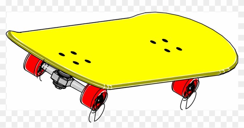 Skateboard Board Skating Sports Toy Yellow Wheels - Skateboard Clipart #103807