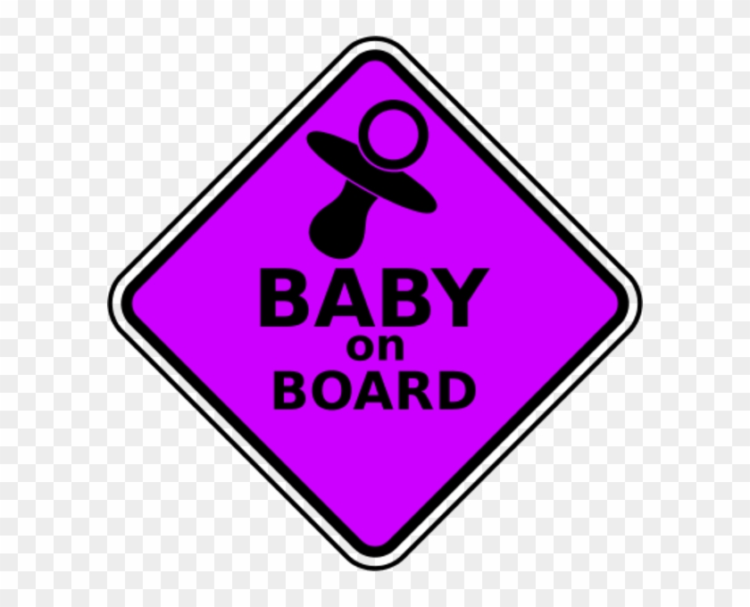 Large Baby On Board Clipart - Baby On Board Props #103824
