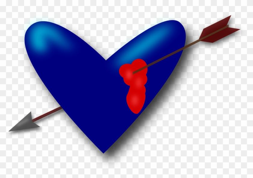 Heart Love Valentine Arrow Blood Broken Heart - Dao Dam Vao Tim #103907