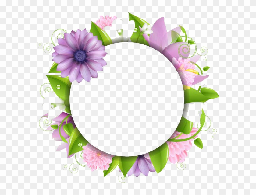 Download Flowers Borders Free Png Photo Images And - Flower Vector Frame Png #103937