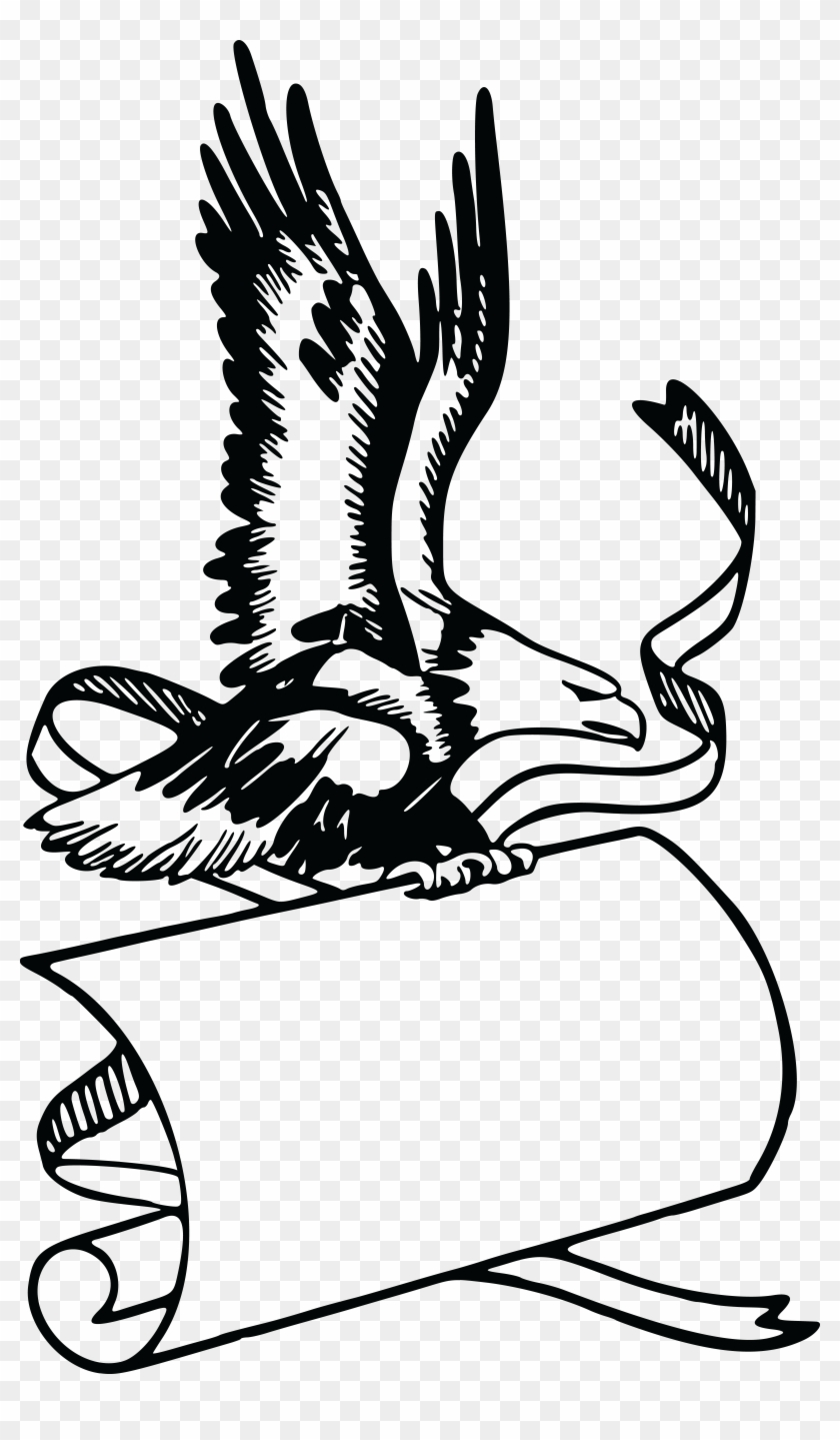 Free Clipart Of A Banner And Bald Eagle - Eagle With Banner #103954