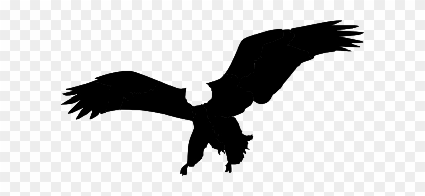 Bald Eagle Flying Silhouette Clip Art - Bald Eagle Silhouette Clip Art #103966