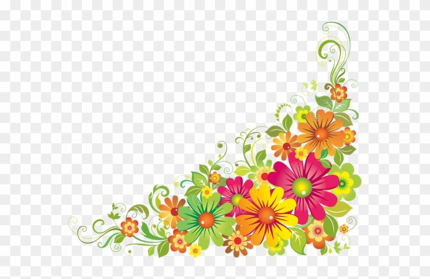 Horizontal Flower Border Clipart, Free Horizontal Flower - Flower Border Clipart #103977