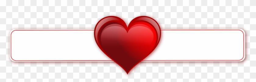 Banner Heart Transparent Background Postcard Hearts - Love Banner Transparent #103981
