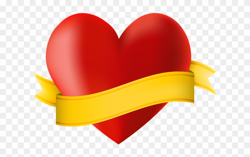 Heart With Ribbon Png #103994