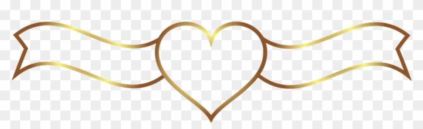 Banner, Heart, Wedding, Gold, Plate - Heart #104079