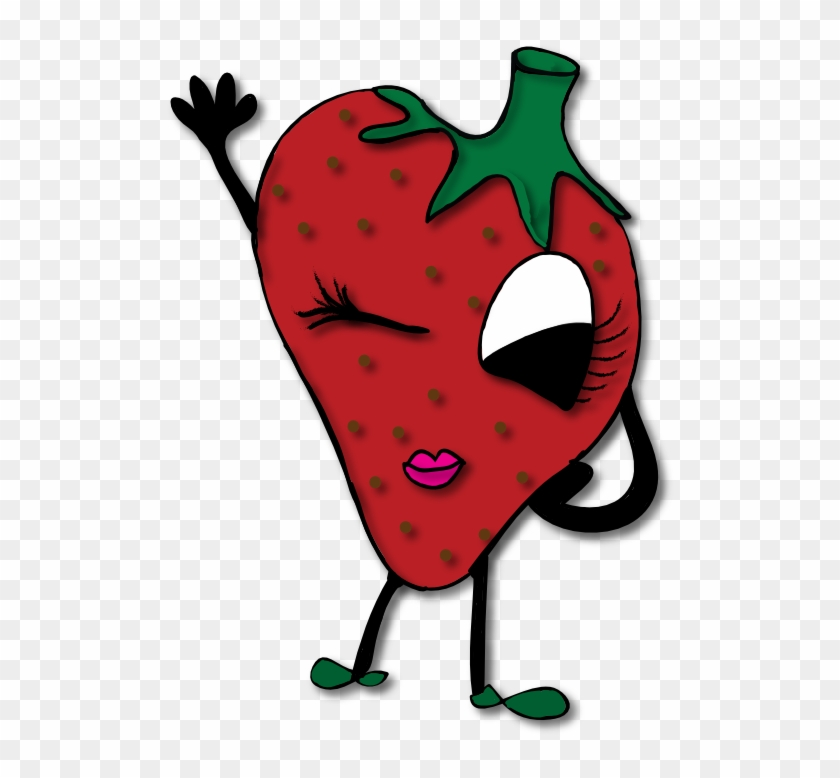 Strawberry Clipart Border Clipart Image - صور فراوله كرتون #104092