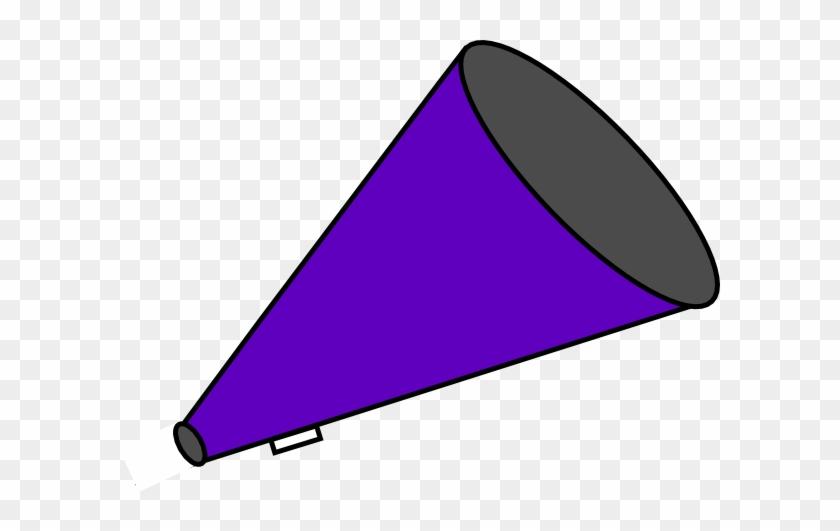 Megaphone Clipart Free Illustration - Purple Pom Poms Clipart #104117