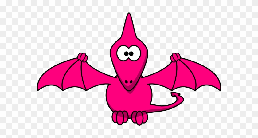 Pink Pterodactyl Pretty Clip Art - Cartoon Pterodactyl #104151