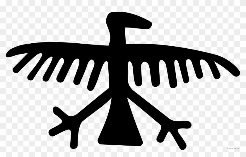 American Eagle Clipart Black And White - Eagle Petroglyph #104159