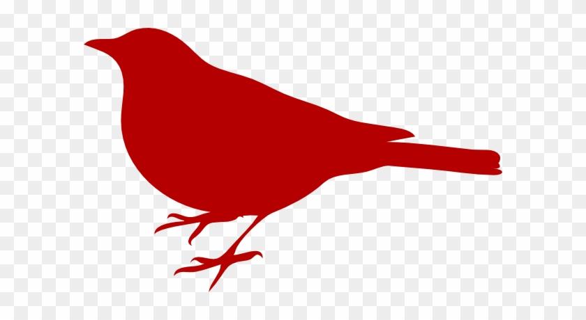 Red Bird Clip Art At Clipart - Bird Silhouette Clip Art #104177