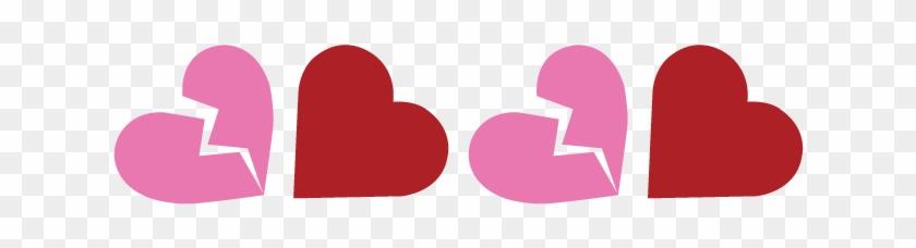 Red Full Heart Full Heart And Broken Heart Banner - Heart #104192