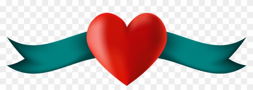 Banner Heart Placeholder Ribbon Awareness Love - Heart #104195