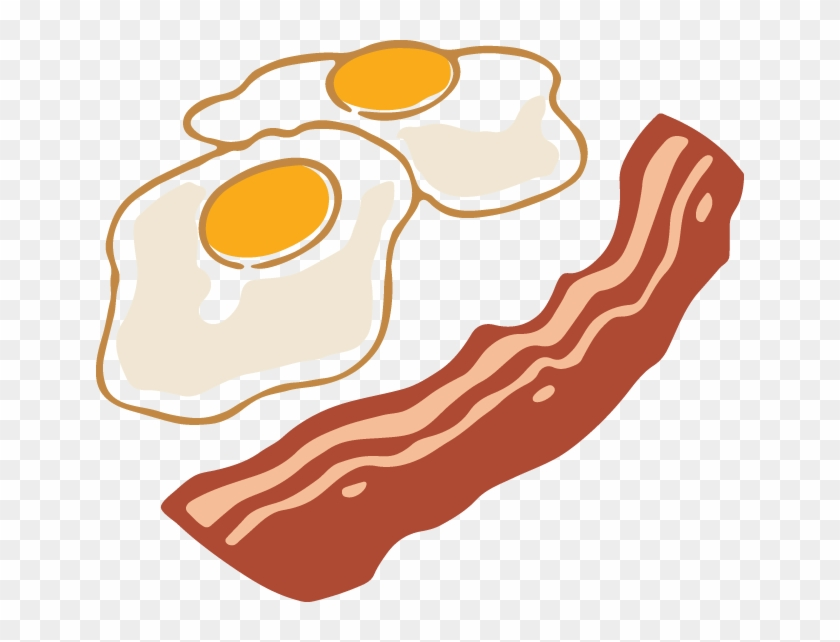 574 - Bacon And Eggs Clipart #104246