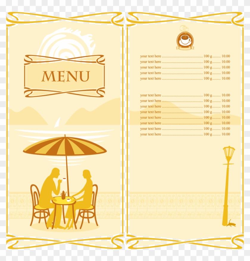 Cafe Menu Cartoon Silhouette - Le Menu D Un Café #104270