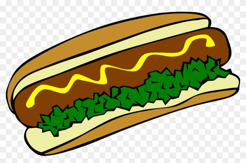 Clipart Fast Food Lunch Dinner Hot Dog - Hot Dog Clip Art #104282