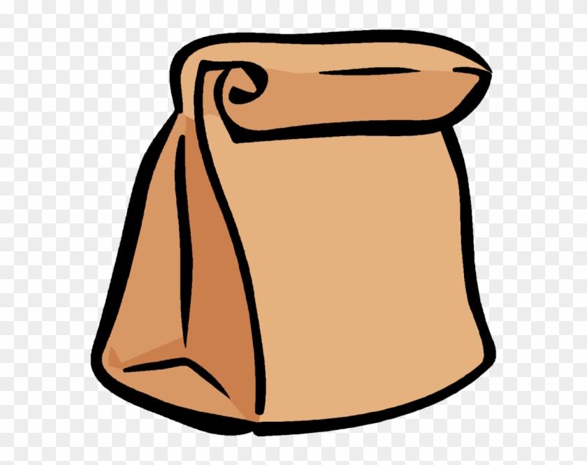 Lunch - Clipart - Brown Paper Bag Cartoon #104303