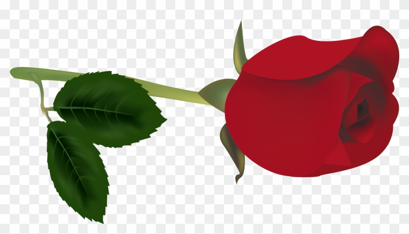 Bud Clipart Red Rose - Red Rose Bud Transparent #104335