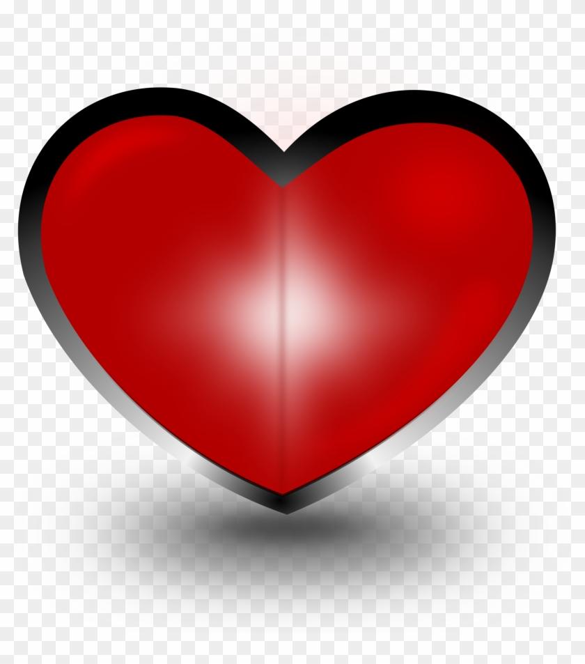 Heart Clipart - Coração Em 3d Png #104342