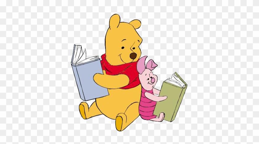 Classics Clipart Piglet - Winnie The Pooh Reading A Book #104359