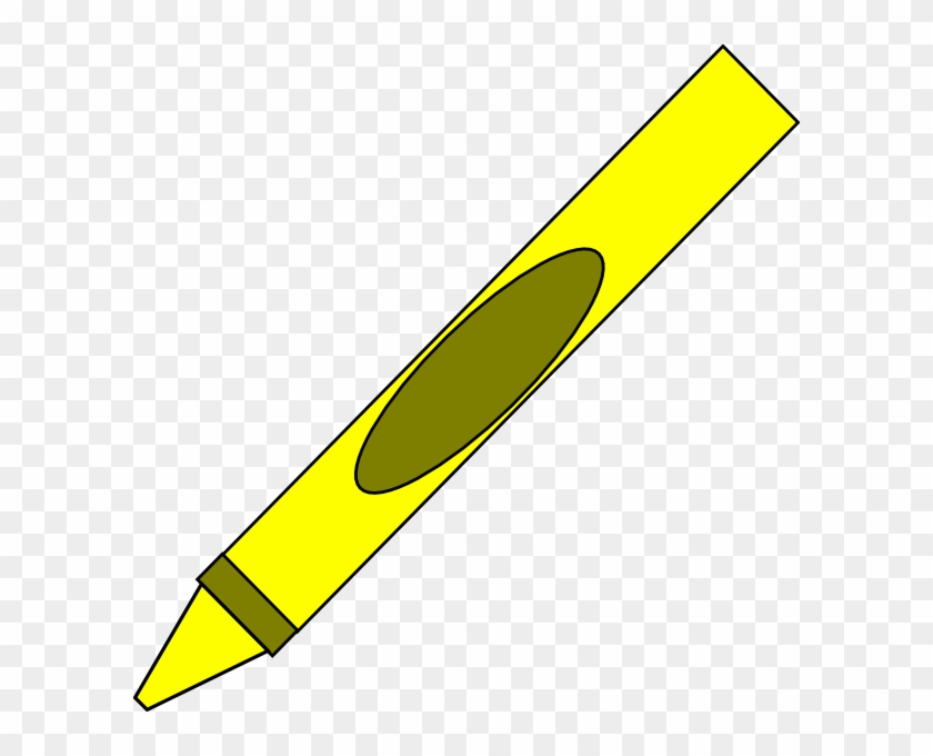 Crayon Scribble Cliparts Free, Free Graphics Crayon - Yellow Crayon Clipart #104399