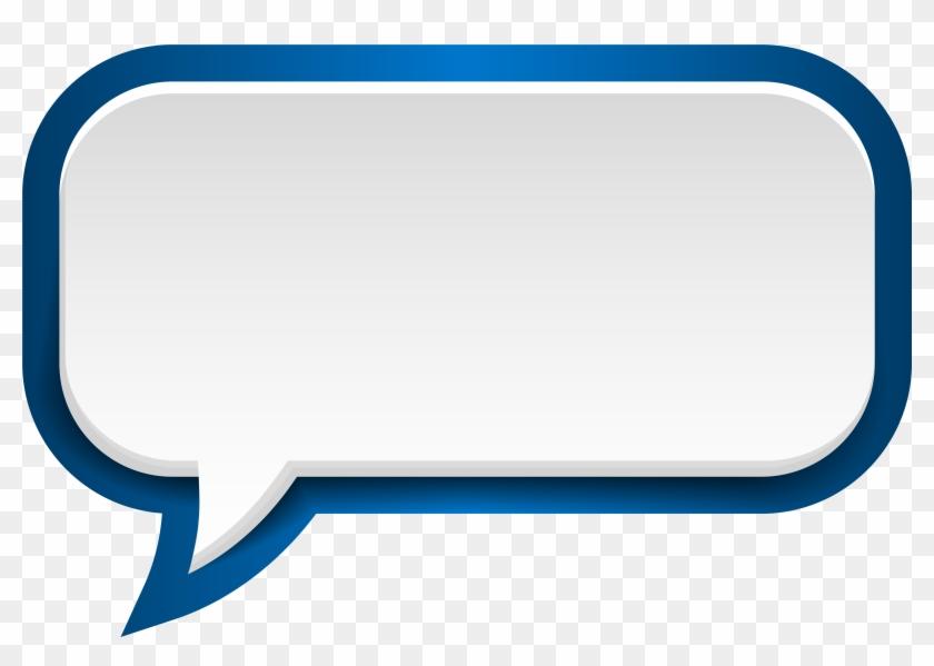 More Information - Speech Bubble Blue Png #104470