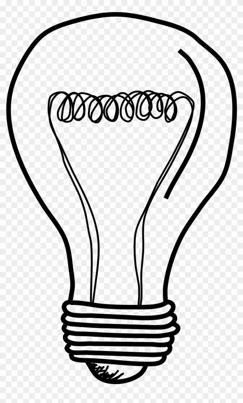 Light Bulb Clip Art Lightbulb Acoloring Clipartix - Lightbulb Drawing Png #104483