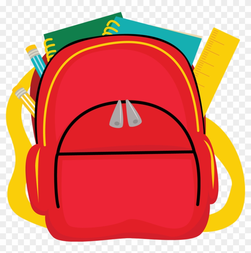 School Bag Backpack Clip Art - School Bag Clipart Png #104531
