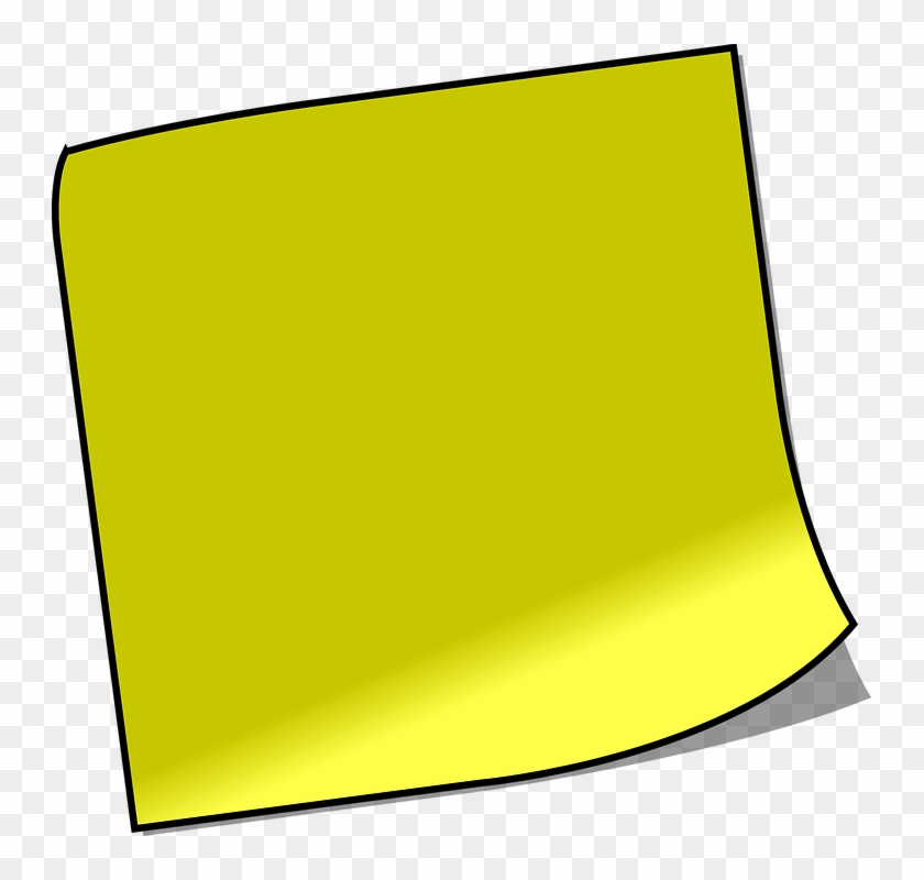 Note Sticky Note Memo Reminder Yellow - Sticky Note Clip Art #104706