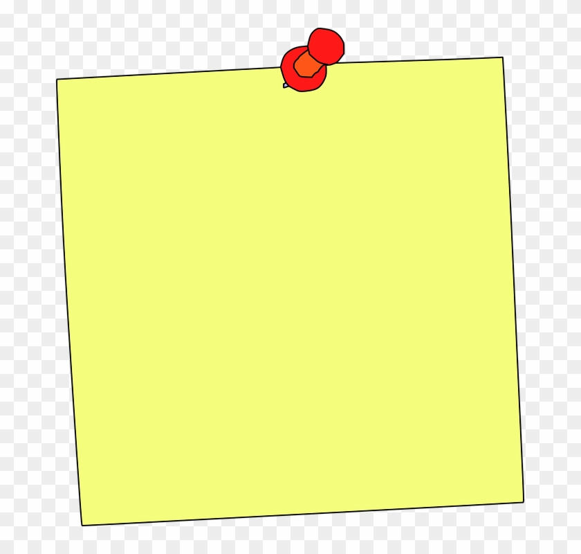 Sticky Note Note Reminder Memo Education Paper - Notice Board Pin Clipart #104741