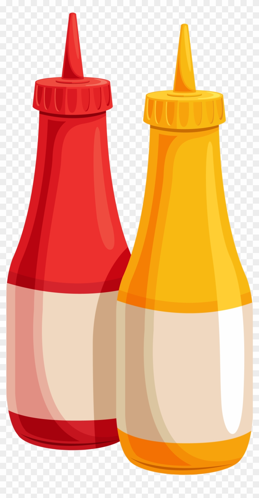 Ketchup And Mustard Bottles Png Clipart Image - Ketchup And Mustard Bottles Png Clipart Image #104788