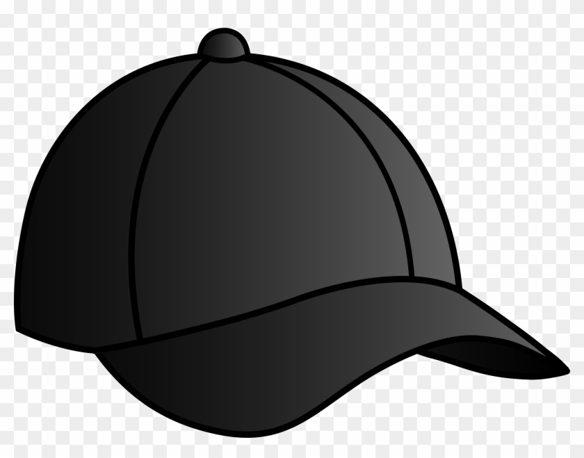 Baseball Hat Black Baseball Cap Free Clip Art - Black Cap Clipart #104799