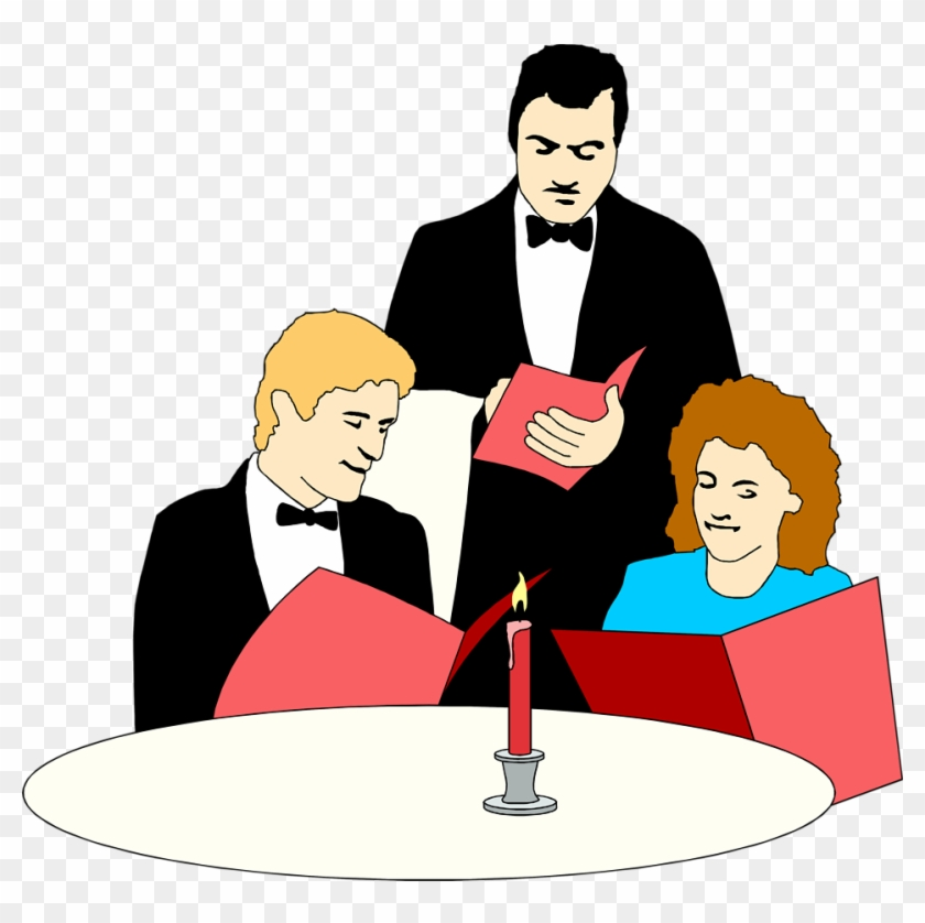 Easy Ordering - Waiter Serving Clipart #104899