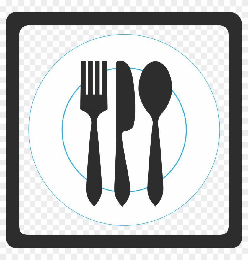 This Free Clip Arts Design Of Restaurant Symbol - Señales De Transito Comedor #104933