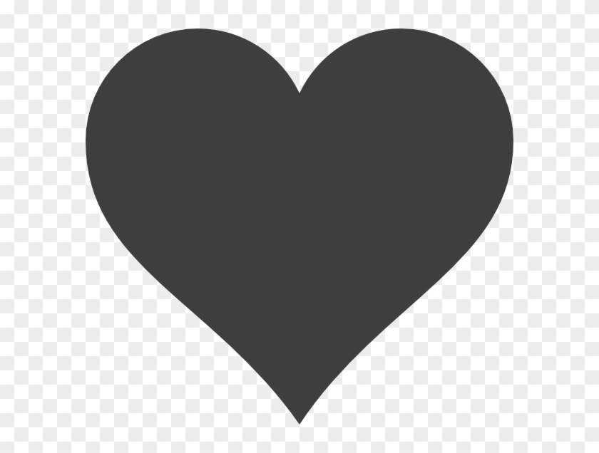 Black Heart Clipart #105079