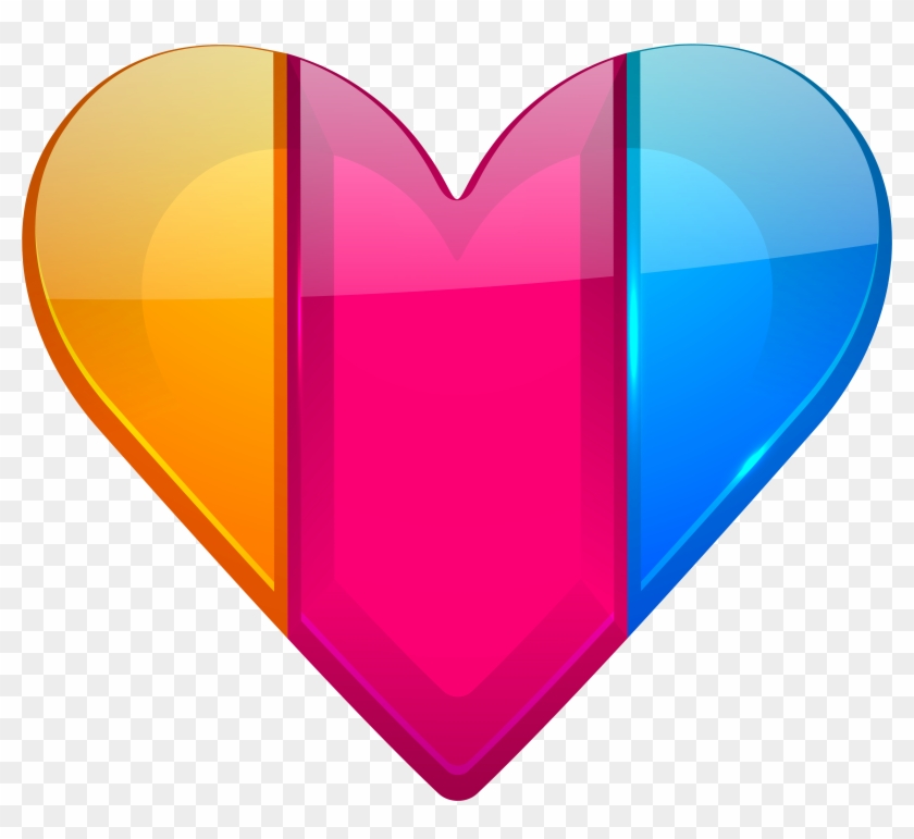 Colorful Heart Png Clipart - Colorful Heart #105094